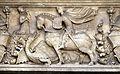 Piazza cattaneo, palazzo cattaneo della volta, sovrapporta con san giorgio e il drago, xv secolo 02.jpg