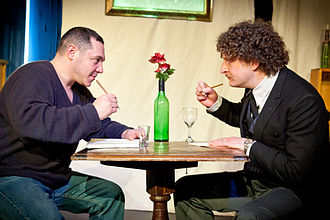 Picasso at the Lapin Agile - Image: Picasso at the Lapin Agile, OVO, St Albans, Mar 2011