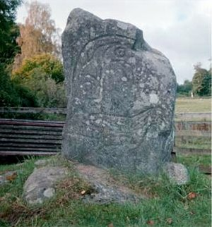 History of Scotland - Clach an Tiompain, a Pictish symbol stone in Strathpeffer