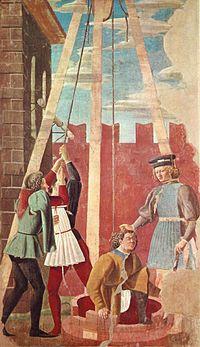 Piero, arezzo, Torture of the Jew 01.jpg