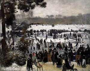Les Patineurs (waltz) - 'Rink of Skaters' at the Bois de Boulogne.(Painted by Renoir, 1868)