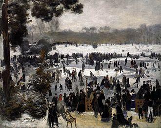 Skaters in the Bois de Boulogne - Image: Pierre Auguste Renoir Patineurs