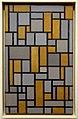 Piet mondrian, composizione con griglia 1, 1918 (houston, museum of fine arts).jpg