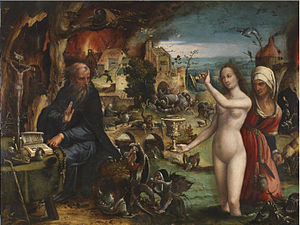 Pieter Coecke van Aelst - The temptation of St Anthony