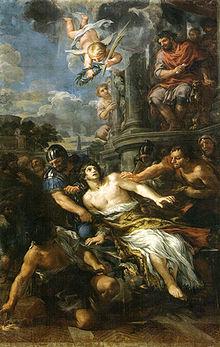 San Lorenzo trascinato sulla graticola, nell'interpretazione di Pietro da Cortona.