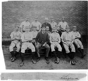 1886 Philadelphia Quakers season - Philadelphia Baseball Club, 1886, Deacon McGuire, George Wood, Joe Mulvey, Charlie Bastian, Andy Cusick, Sid Farrar, Ed Daily, Jim Fogarty, Harry Wright, Ed Andrews, Charlie Ferguson, Arthur Irwin, Dan Casey, Jack Clements.