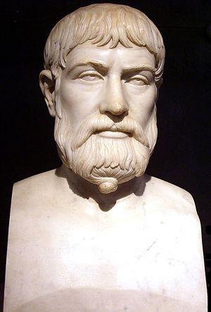 Pindar - Pindar, Roman copy of Greek 5th century BC bust (Museo Archeologico Nazionale, Naples)
