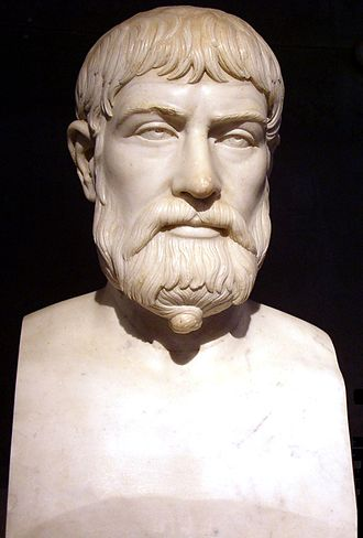 Pindar - Pindar, Roman copy of Greek 5th century BC bust (Museo Archeologico Nazionale, Naples)