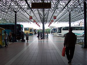 Pyrgos, Elis - The bus terminal in Pyrgos.