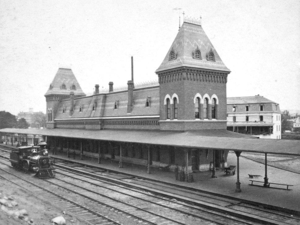 Pittsfield Union Station, circa 1880