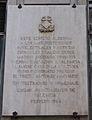Placa al lloc on estigué la casa de la Cultura durant la guerra civil, carrer de la Pau, València.JPG