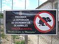 Placa de prohibicion para perros lou.JPG