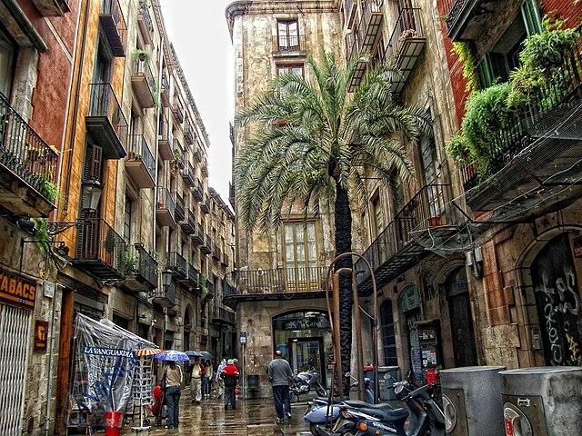 carrer de montcada sehensw rdigkeit in barcelona spanien. Black Bedroom Furniture Sets. Home Design Ideas