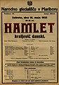 Plakat za predstavo Hamlet kraljevič danski v Narodnem gledališču v Mariboru 16. maja 1925.jpg