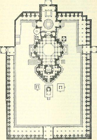Girnar Jain temples - Plan of Neminath Jain Temple
