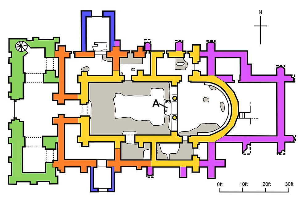 Plan of St Mary%27s Church, Reculver