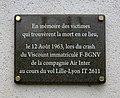 Plaque commémorative de la catastrophe aérienne du Vol Lille-Lyon IT 2611 (Tramoyes).jpg