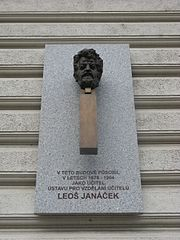 Plaque of Leoš Janáček, Brno