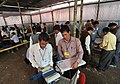 Polling officials checking the Electronic Voting Machines (EVM`s) and other necessary inputs required for the Tripura Assembly Election, in Agartala, Tripura on February 13, 2013.jpg