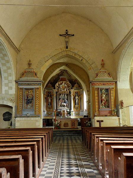 Église Saint-Martin de Pommerieux (53). Intérieur.