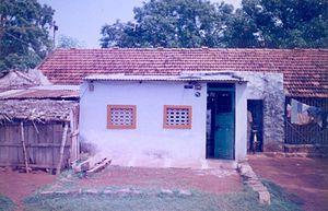 Golden Rock Railway Workshop - A House in 'C'-Type in the Railway Colony