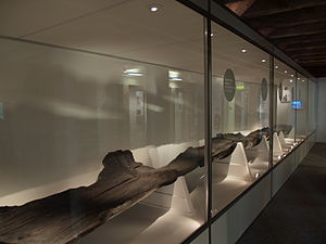 Poole - The Poole Logboat, a 2,000-year-old dugout canoe discovered during dredging works in Poole Harbour.