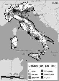 What is the size of Italy?