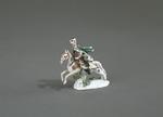 Porslin. Husar till häst. Figurin - Hallwylska museet - 89240.tif