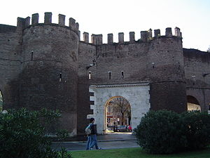 Porta Pinciana - External view of Porta Pinciana