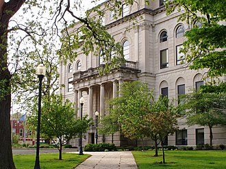 Porter County, Indiana - Porter County Courthouse in Valparaiso, Indiana