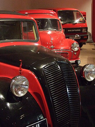 Postal Museum, London - Post Office vehicles in the BPMA's collection.