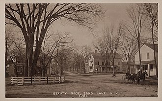 Sand Lake, New York - Street scene, about 1910