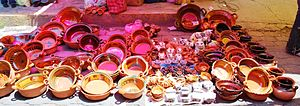 Pottery of Metepec - Pots and other utensils at a market in Metepec