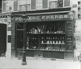 Poulenc Frères - Poulenc Frères branch store at 11 rue de Cluny, Paris, opened in 1886
