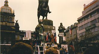 Velvet Revolution - St. Wenceslas Monument