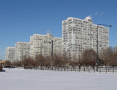 Prairie Shores Apartments in Chicago.