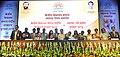 Prakash Javadekar with the recipients of the KVS National Incentive Awards 2016 and the Innovation and Experimentation Awards 2016, at the Kendriya Vidyalaya Sangathan (KVS) foundation day function, in New Delhi (6).jpg