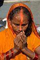 Praying Devotee - Chhath Puja Ceremony - Baja Kadamtala Ghat - Kolkata 2013-11-09 4258.JPG