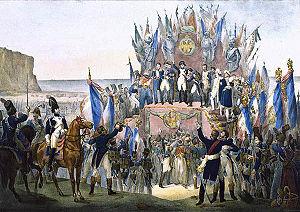 Napoleon distributing the Légion d'honneur at ...
