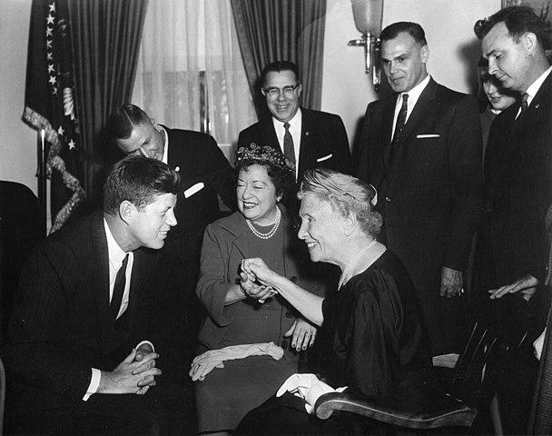 Джон Кеннеди и Хелен Келлер, 1961 год