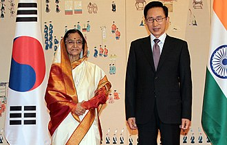 President - Indian President Pratibha Patil and South Korean President Lee Myung-bak.