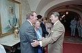 President Ronald Reagan greeting Fred MacMurray.jpg