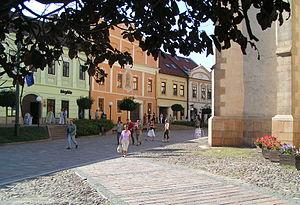 Presov - historic houses and St. Nicolaus Church.jpg