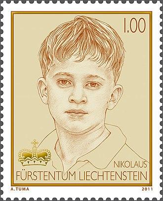 Prince Nikolaus of Liechtenstein - Prince Nikolaus on a 2011 stamp of Liechtenstein