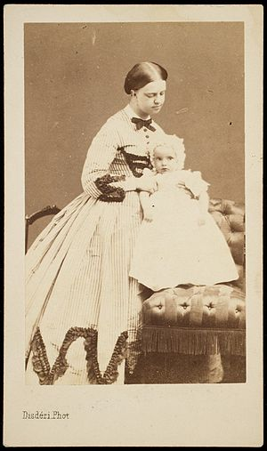 Princess Maria Clotilde of Savoy - Maria Clotilde with her son, Napoléon Victor