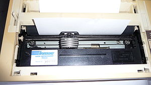 Dot matrix printing - Epson VP-500 Printer with its cover removed