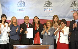 Femicide - Declaration of the enactment of the law against femicide in Chile, 2010