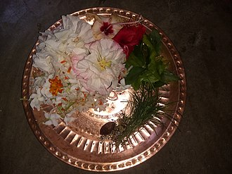 Puja (Hinduism) - Puspa-patra (Bengali:পুষ্পপাত্র), important and essential utensils of worshipping, usually made with copper
