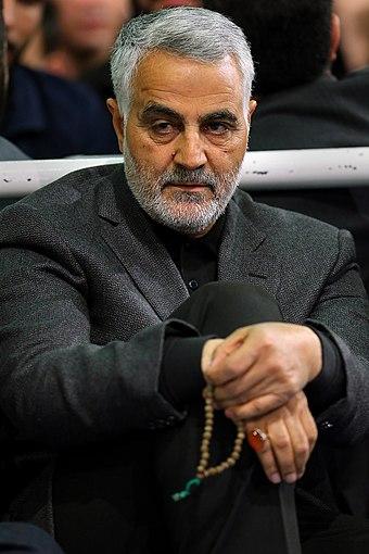 Qasem Soleimani in Imam Khomeini Hossainiah01., From WikimediaPhotos