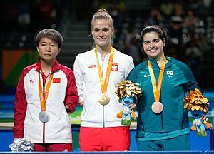 Natalia Partyka -  Partyka (center) at the Paralympic 2016